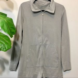 Eileen Fisher Jersey Material Zip Up Sweater
